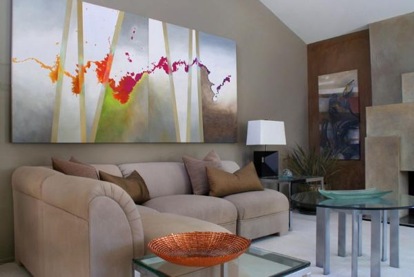 Amazing How To Use Abstract Wall Art In Your Home Without Making It Look Out Of  Place