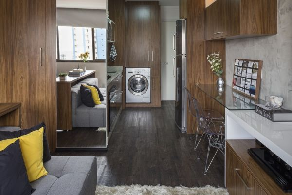 30 Sqm Apartment In Brazil With A Practical Layout And