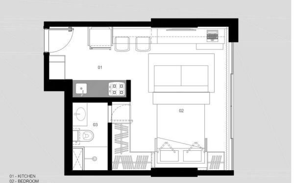 30 Sqm Apartment In Brazil With A Practical Layout And A ...