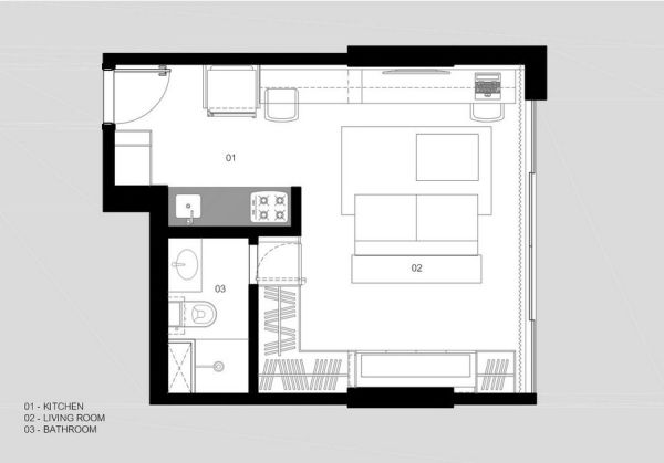 30 Sqm Apartment In Brazil With A Practical Layout And A Comfortable Interior Video