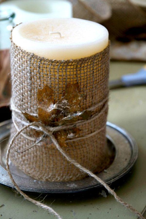 10 diy burlap fall decorations for Ideas decorativas para el hogar
