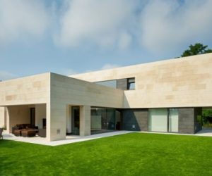 Contemporary House In La Bilbaína With A Geometric Structure And Design