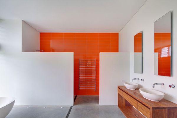 Contemporary Bathroom Ideas For A Soothing Experience - Bathroom colour ideas orange