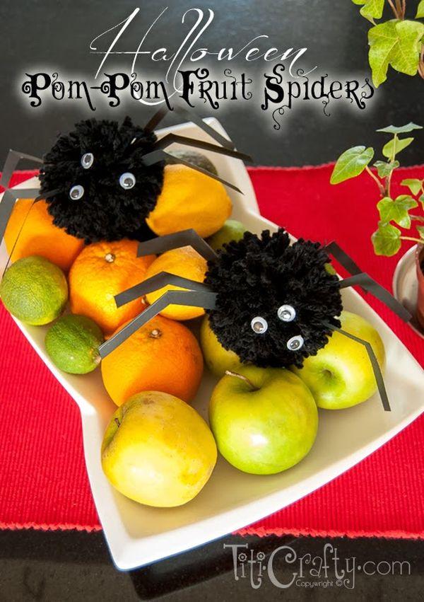8 halloween diy projects to make with pom poms - Halloween Pom Poms
