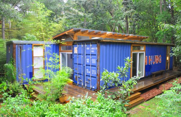 House Made From Shipping Containers eco-friendly house made from two shipping containers
