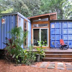 Eco Friendly House Made From Two Shipping Containers