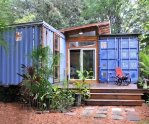 Eco-Friendly House Made From Two Shipping Containers
