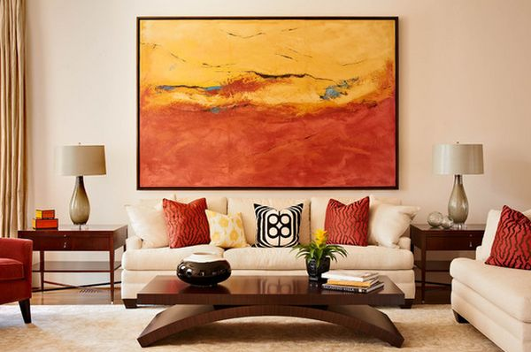 Groee Wohnzimmer Bilder ~ How to use abstract wall art in your home without making