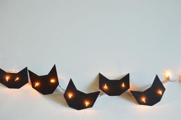 creepy cats - Black Cat Halloween Decorations