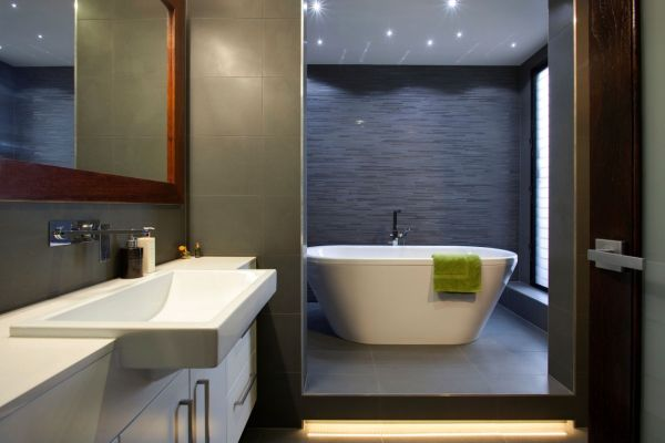 63 contemporary bathroom ideas for a soothing experience for Contemporary grey bathrooms