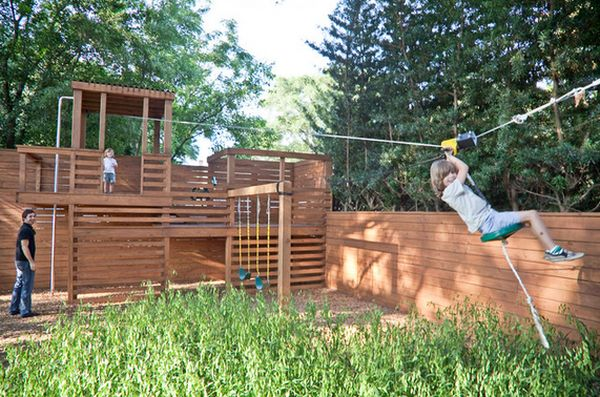 For Anyone Who Has Kids A Backyard Zipline
