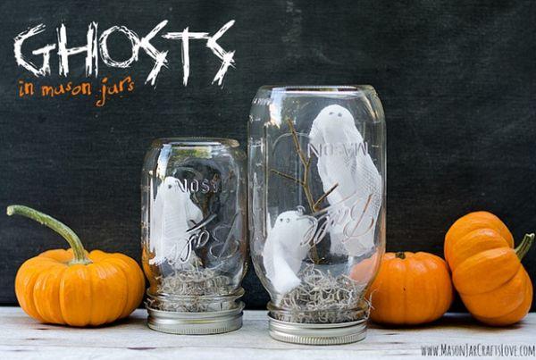 Ingenious Mason Jar Halloween Decoration Ideas