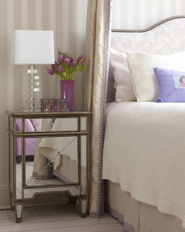 uber feminine ways to style the nightstand Decorative Nightstands