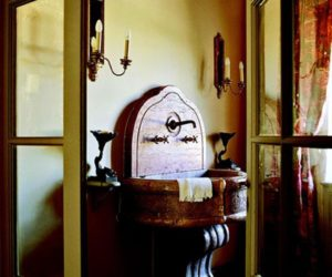 Old World-Influenced Bathroom Vanities