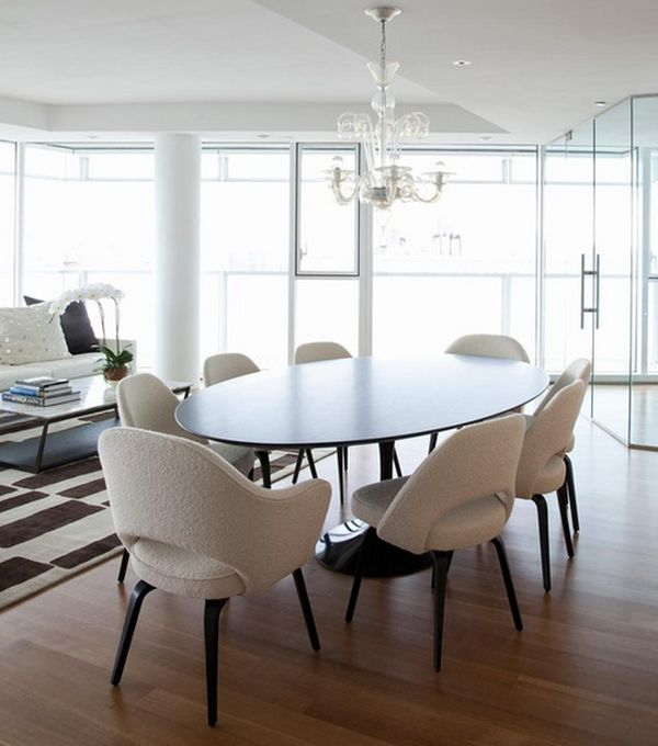 modern round dining room table. Round or Oval inspired Shapes  How to Choose the Right Dining Room Chairs