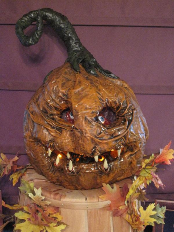Lovely Rotten Pumpkin Face. Photo