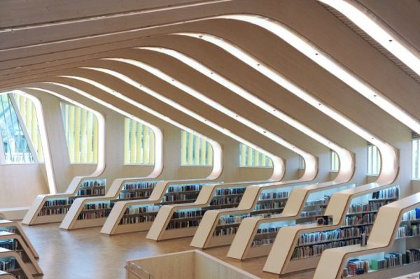 12 modern architecture libraries around the world for Modern library building design