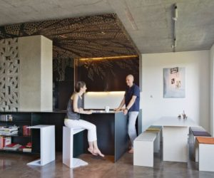 Maximize A Small Loft In Warsaw Featuring Multifunctional Furniture
