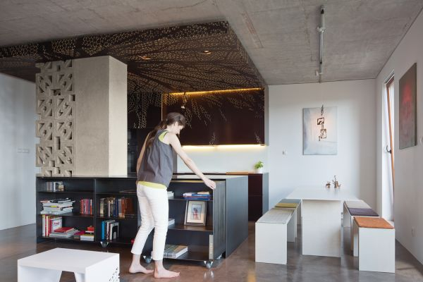 furniture for loft. Most Of The Furniture In Apartment Is Multifunctional.They Kept Raw Concrete Ceiling As Such Because They Liked How It Looked And Fact That For Loft G