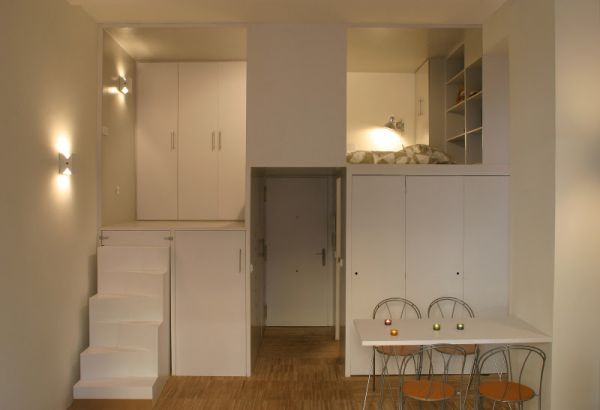 Tiny 28 square metre apartment designed like a puzzle for 8 sqm room design