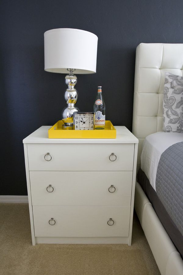 uber masculine ways to style the nightstand Nightstand Decor Ideas