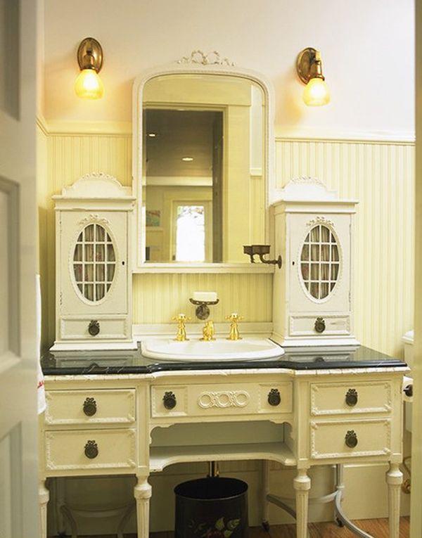 Bathroom Cabinets Victorian old world-influenced bathroom vanities