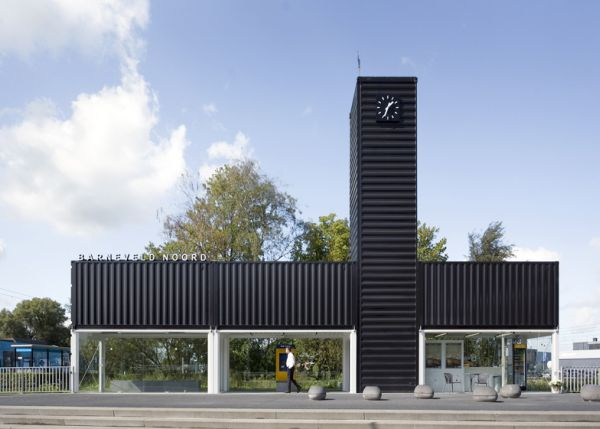 Netherlands Railway Station Made Of Shipping Containers