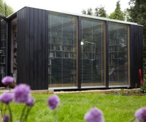 Rock And Roll Modular House · Modular Library Studio With A Flexible Design  And A Prefab System