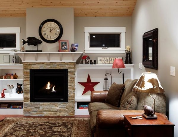 view in gallery - Stone Fireplace Design Ideas