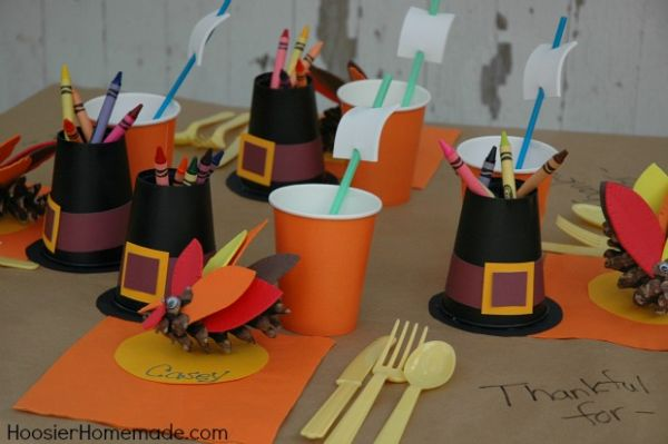 8 Diy Kid Friendly Table Decorations For Your Thanksgiving