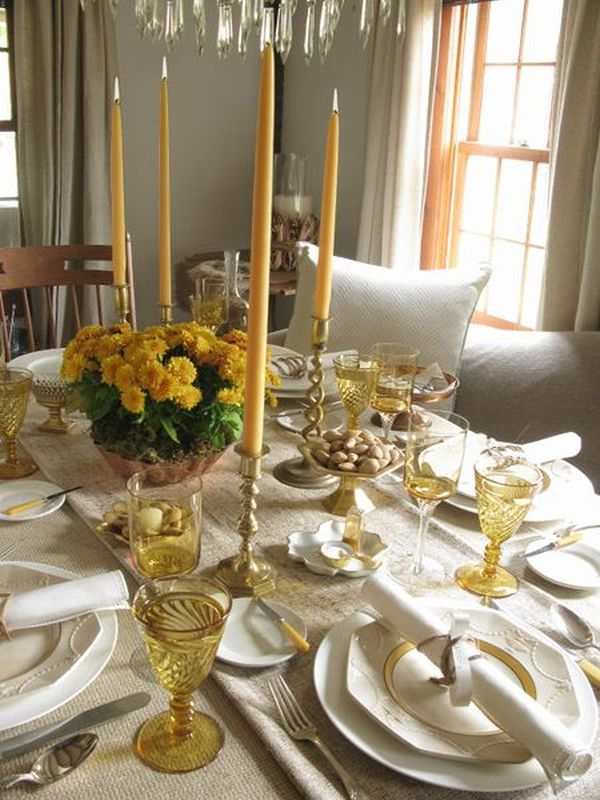 30 Thanksgiving Table Setting Ideas For A Festive D233cor  : Thanksgiving Table Setting from www.homedit.com size 600 x 800 jpeg 88kB