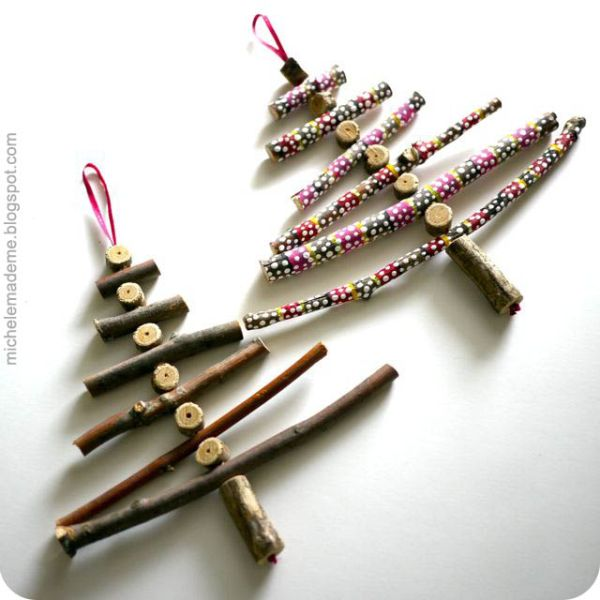 45 diy creative and easy christmas tree ornaments shumatsu distortioninfo - Wooden Christmas Decorations To Make