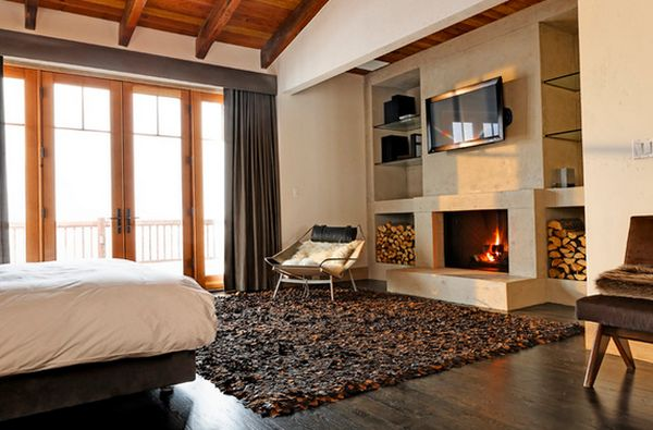 fireplace is lovely View in gallery A modern bedroom. 100 Fireplace Design Ideas For A Warm Home During Winter