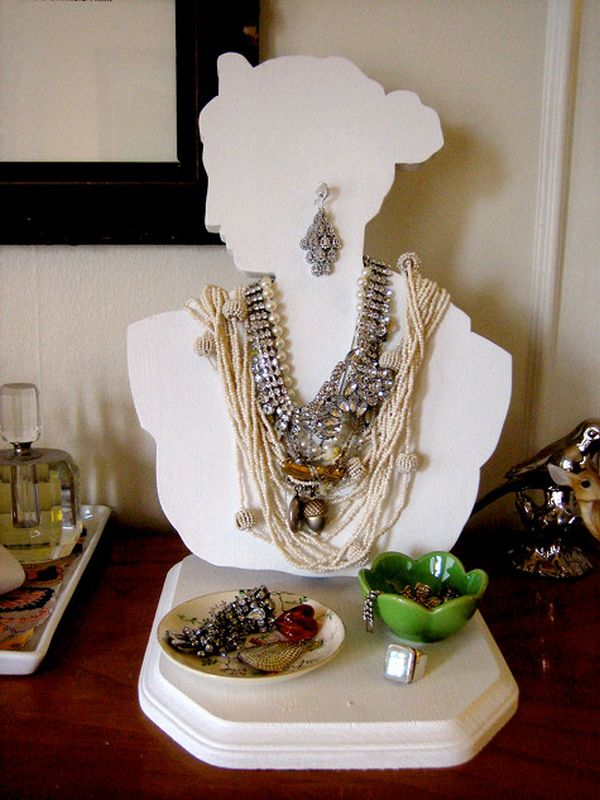40 Ways To Stay Organized With DIY Jewelry Holders Best How To Make A Jewelry Stand Display