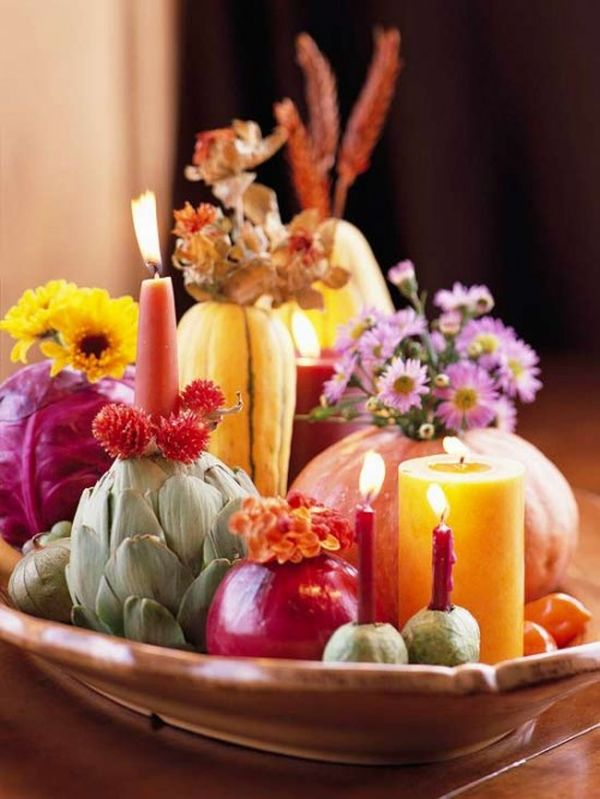 6 fresh colors - Thanksgiving Centerpieces Ideas