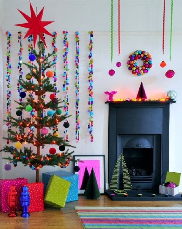 3 bright brights - Different Christmas Decorating Styles
