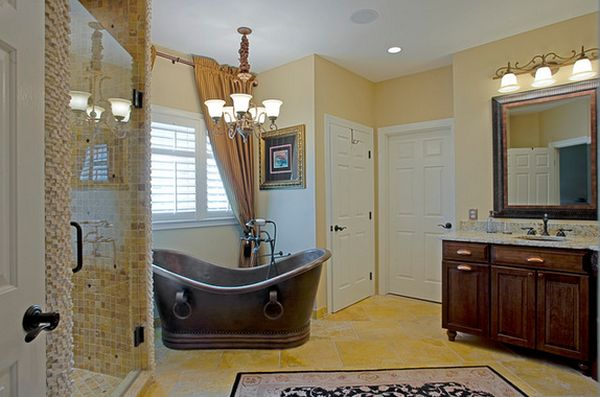 15 Copper Bathtubs Create A Warm Glow Focal Point In The Bathroom