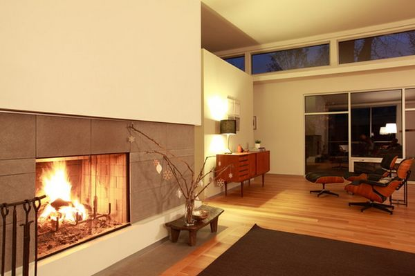 view in gallery a very simple fireplace with a minimalist and modern design view in gallery - Modern Fireplace Design Ideas