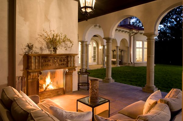 100 fireplace design ideas for a warm home during winter for Garden loggia designs