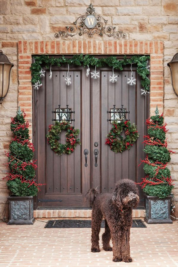 4 lined doors - Patio Christmas Decorations