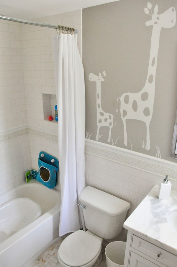 Playful And Colorful Kids Bathroom Design Ideas - Kid bathroom themes for small bathroom ideas