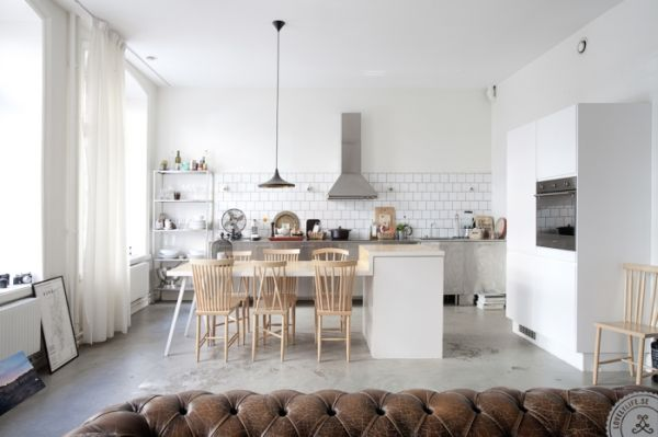 The pros and cons of concrete flooring - Cuisines scandinaves ...