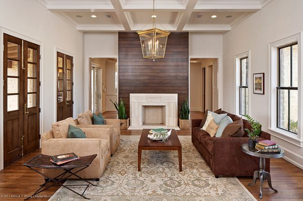 Wood Paneled Fireplaces.