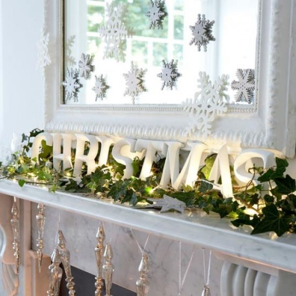 2 cutesy cottage - White Christmas Decorating Theme