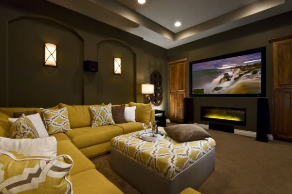 Mustard And ChocolateCovered Rooms Ideas Inspiration Enchanting Brown Living Room