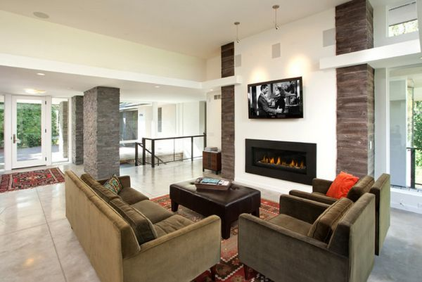 modern homes View in gallery 100 Fireplace Design Ideas For A Warm Home During Winter