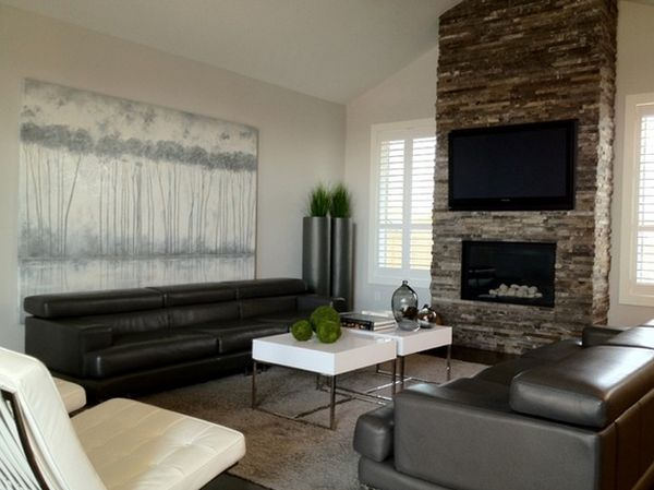 view in gallery - Modern Fireplace Design Ideas