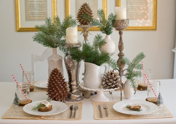 Festive and beautiful christmas tablescapes ideas
