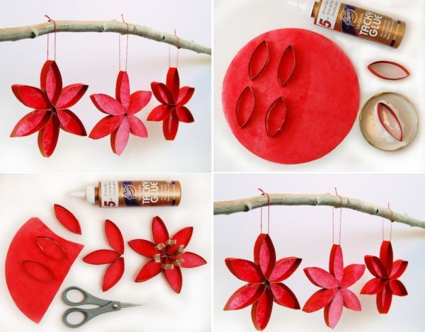 45 diy creative and easy christmas tree ornaments for Easy to make christmas decorations