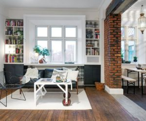 One-Room Scandinavian Apartment With An Interesting Layout